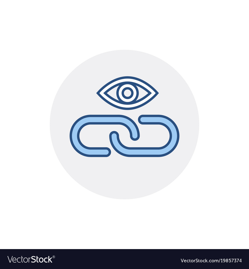 Eye Hyperlink Link Web Web Link Icon Royalty Free Vector