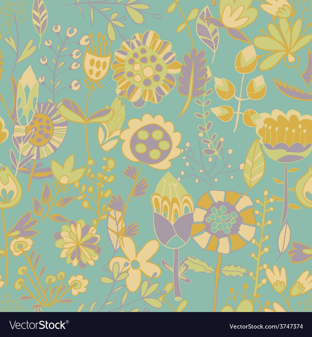 Flower Pattern Seamless Texture Vector Image