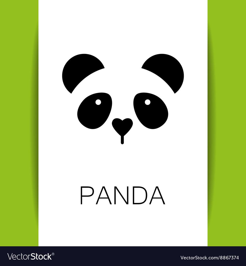 Panda bear template vector image