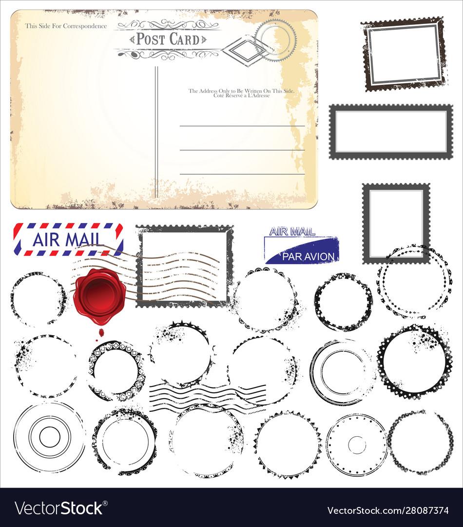 Post stamp set