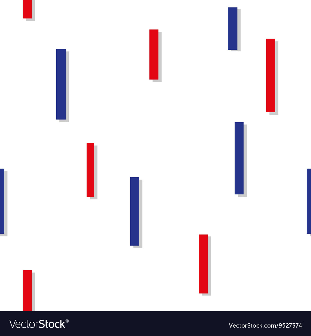 Red Blue Square Abstract White Background