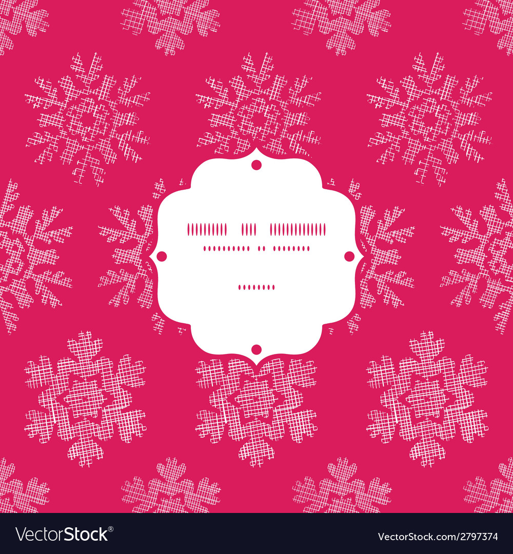 Red lace christmas snowflakes geometric textile