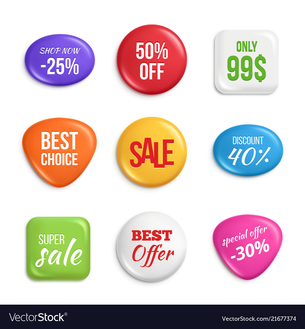 Sale badges labels of best offers and sales
