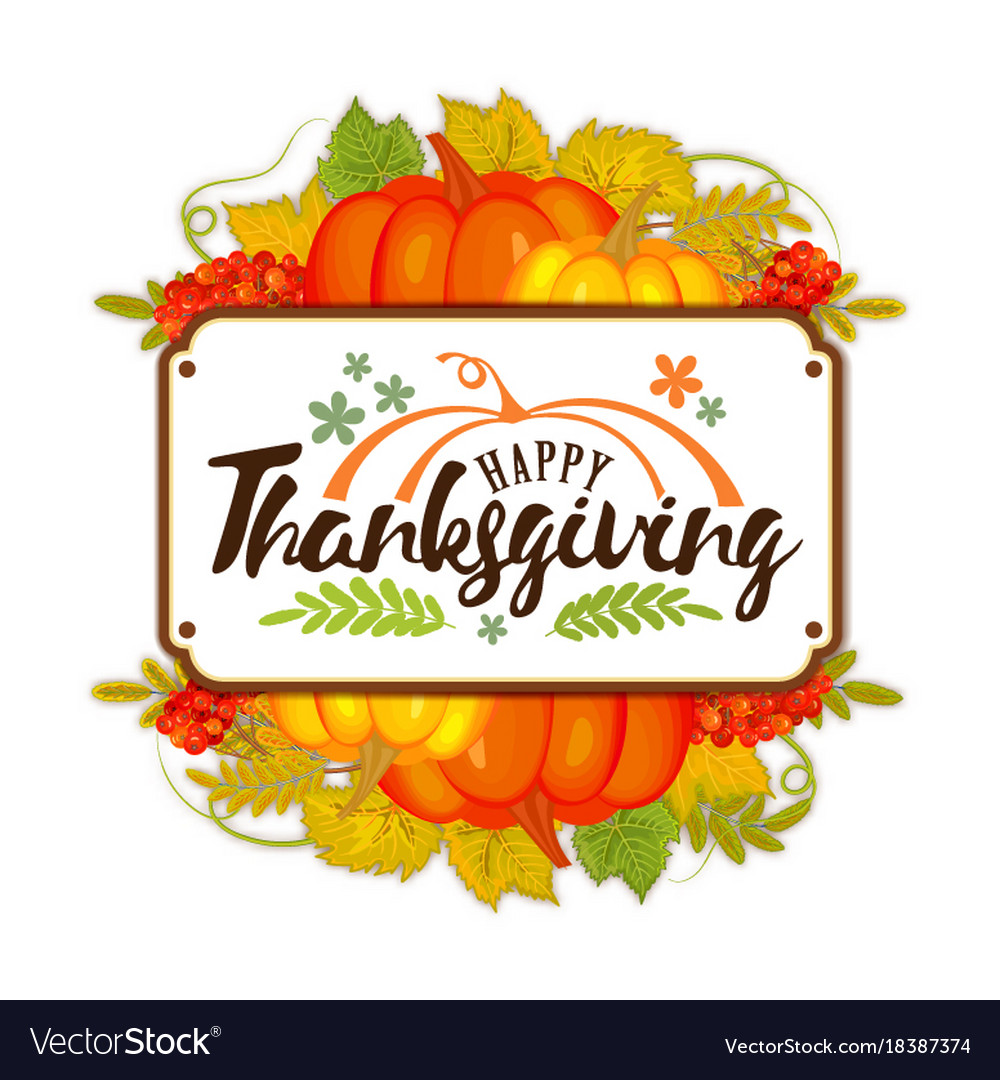 Watercolor design style happy thanksgiving day