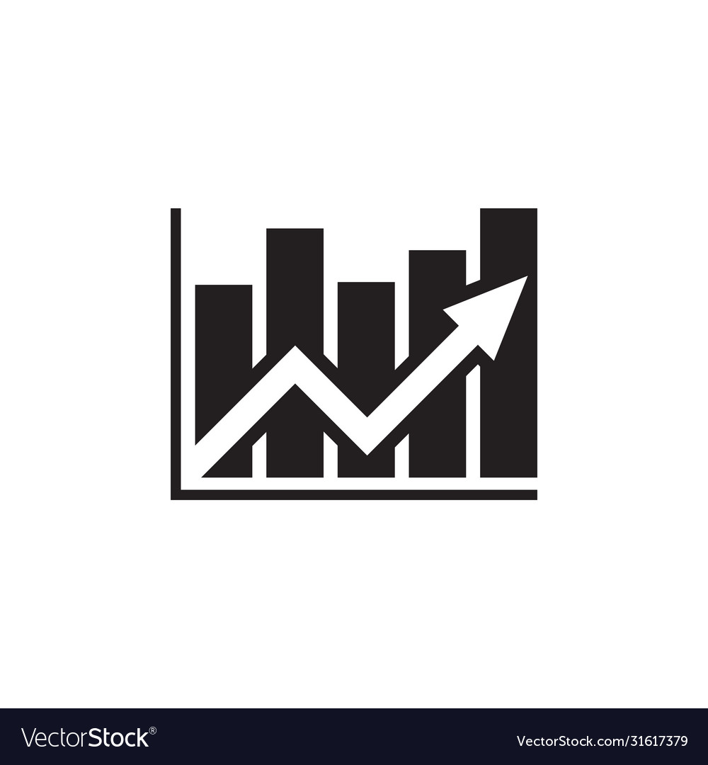 Analysis stock market - black icon on white