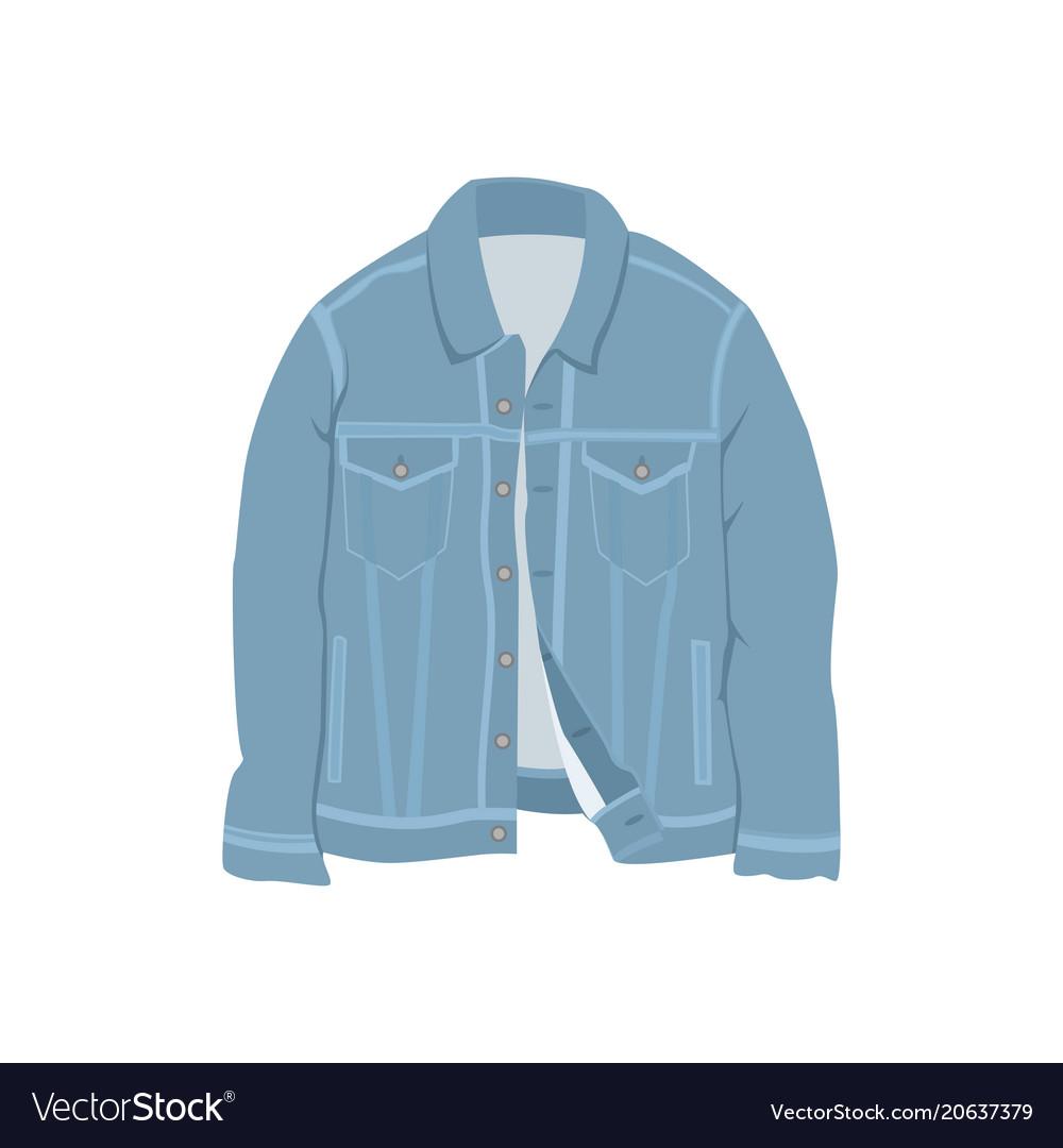 Blue denim jacket fashion style item