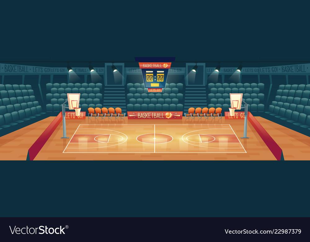 Cartoon background empty basketball