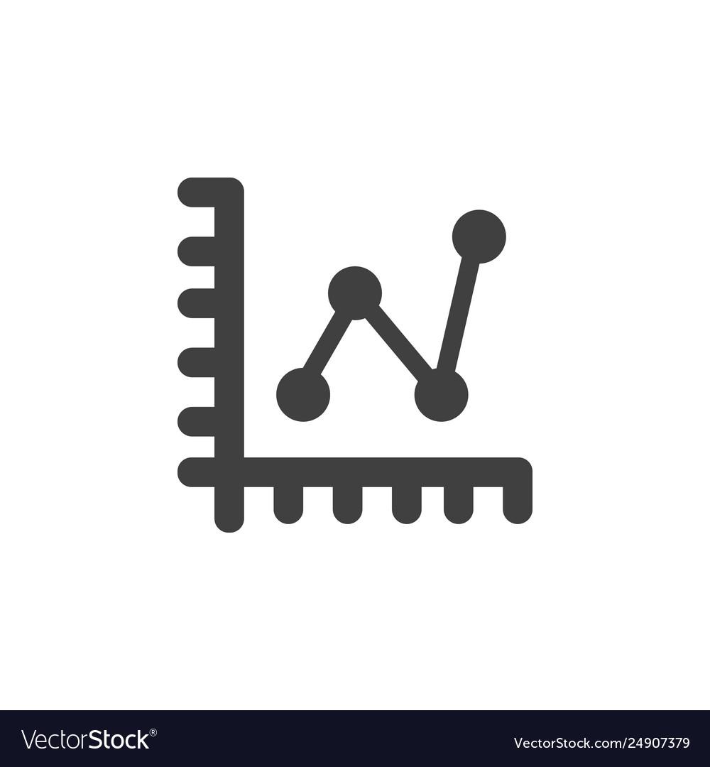Database server line chart icon element