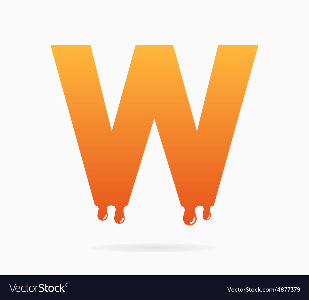 Letter W logo or symbol icon