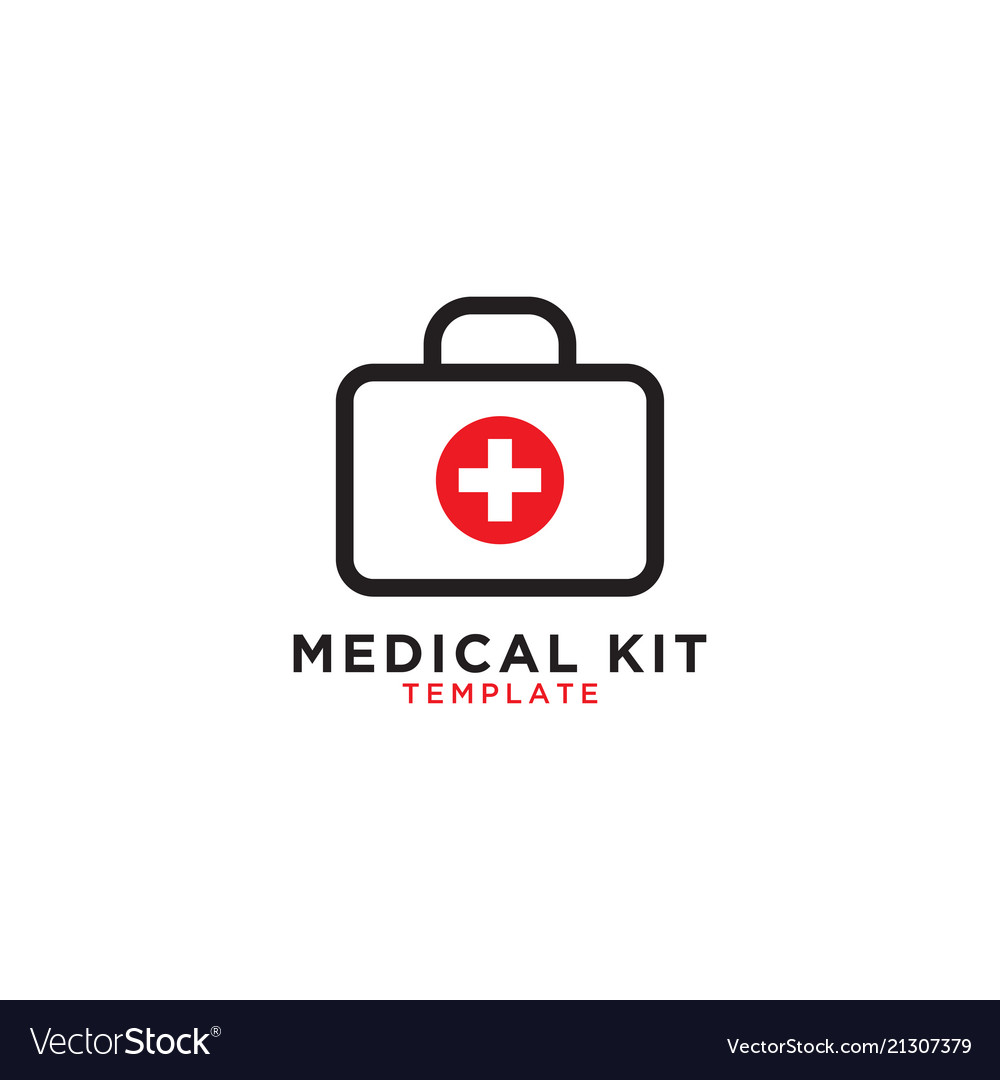 Medical first aid kit graphic template royalty free vector medical first aid kit graphic template vector image maxwellsz