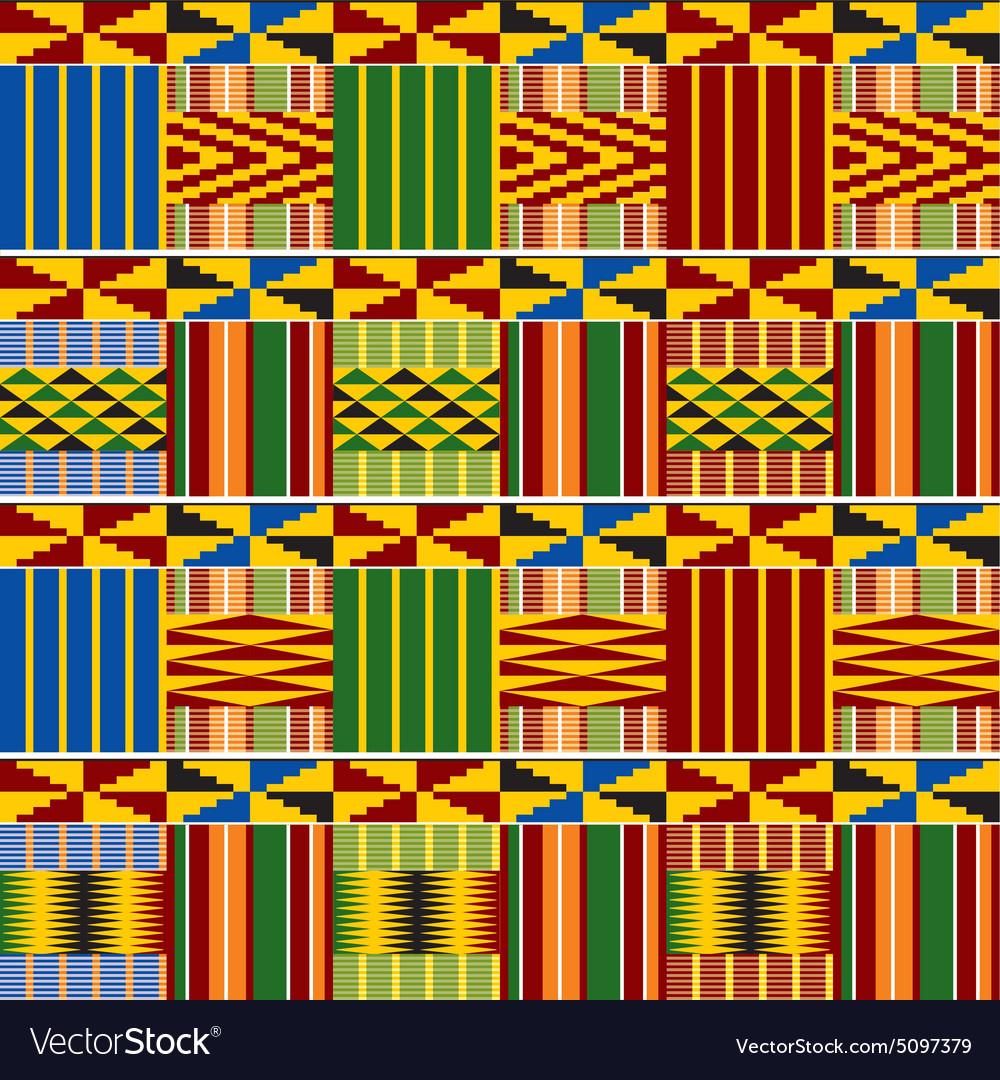Ornament Kenya seamless vs vector image