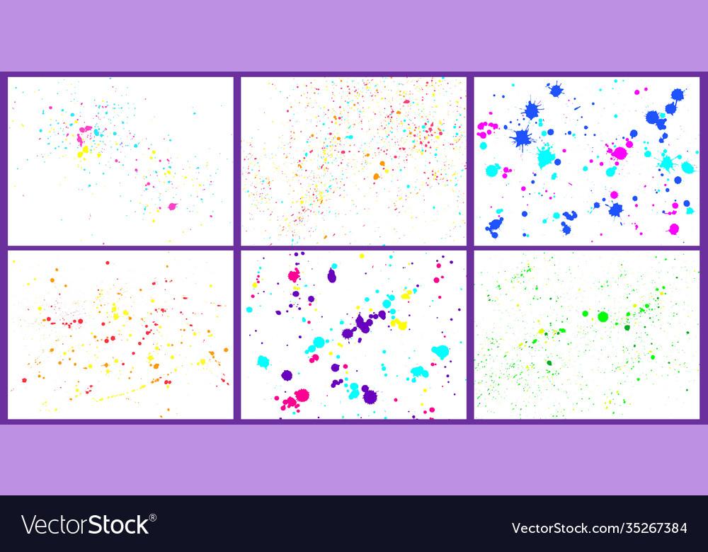 Color paint splatter background paint bright