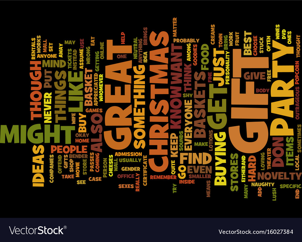 gift for christmas party text background word vector image