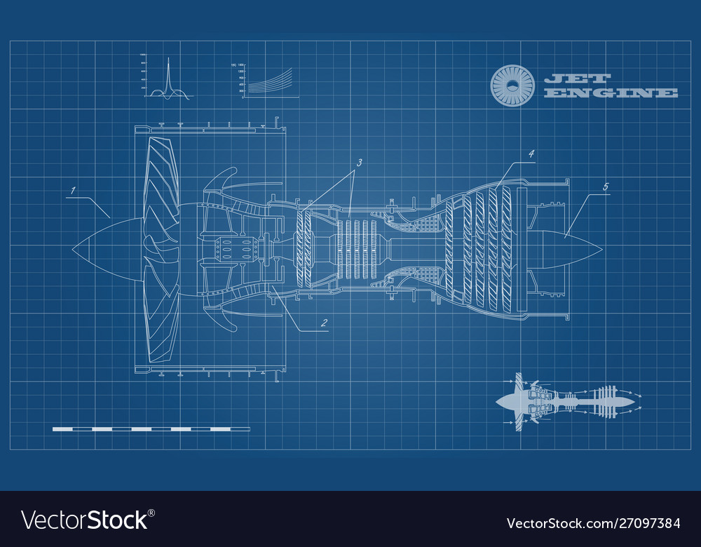Jet engine airplane in outline style