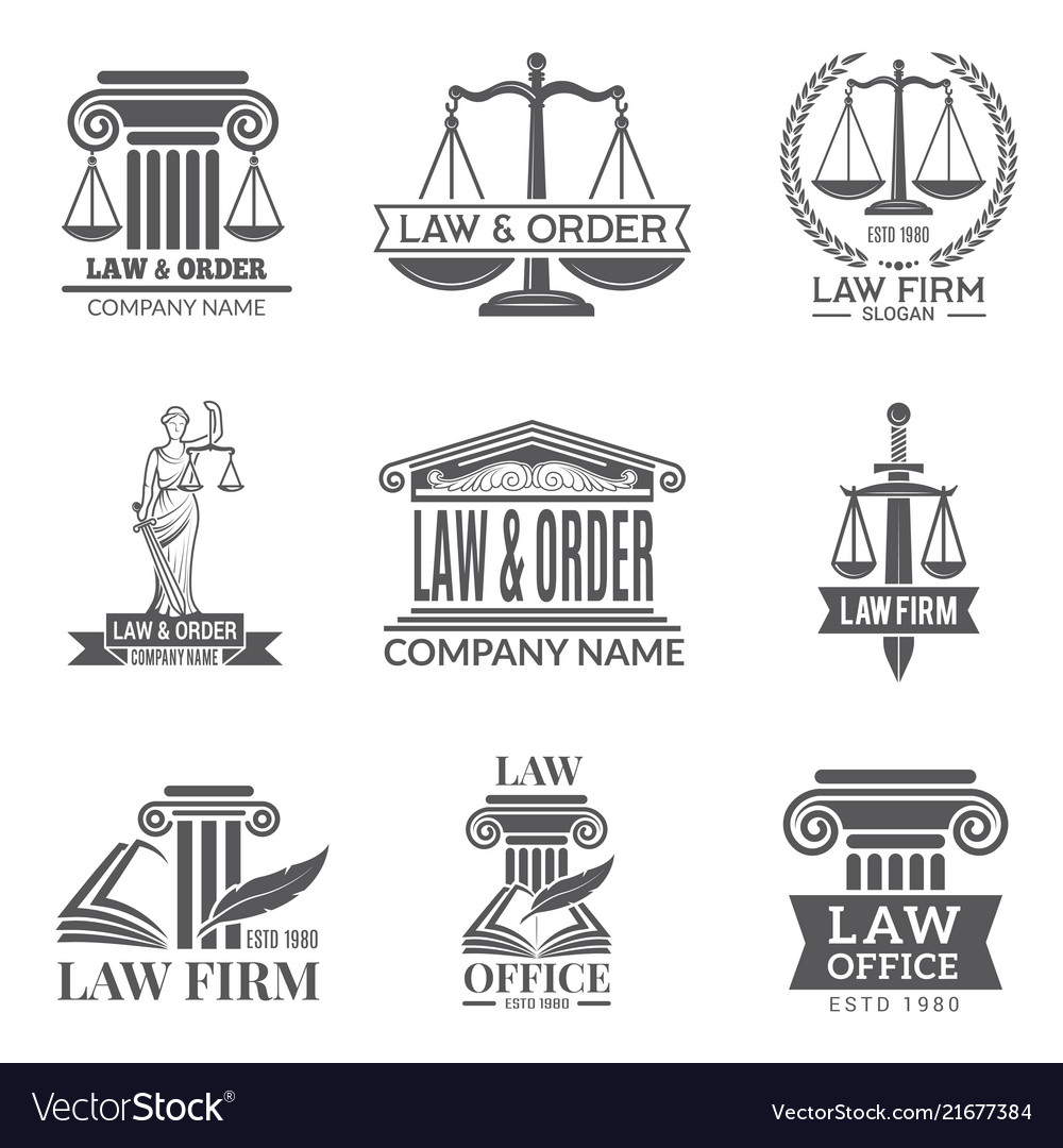 Law and legal labels legal code judge hammer and