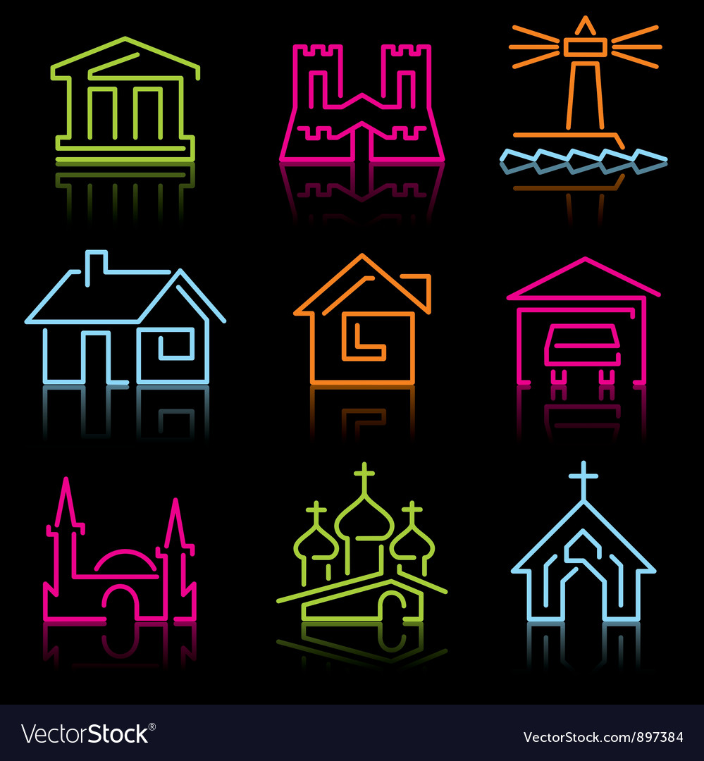 Line architectural icons