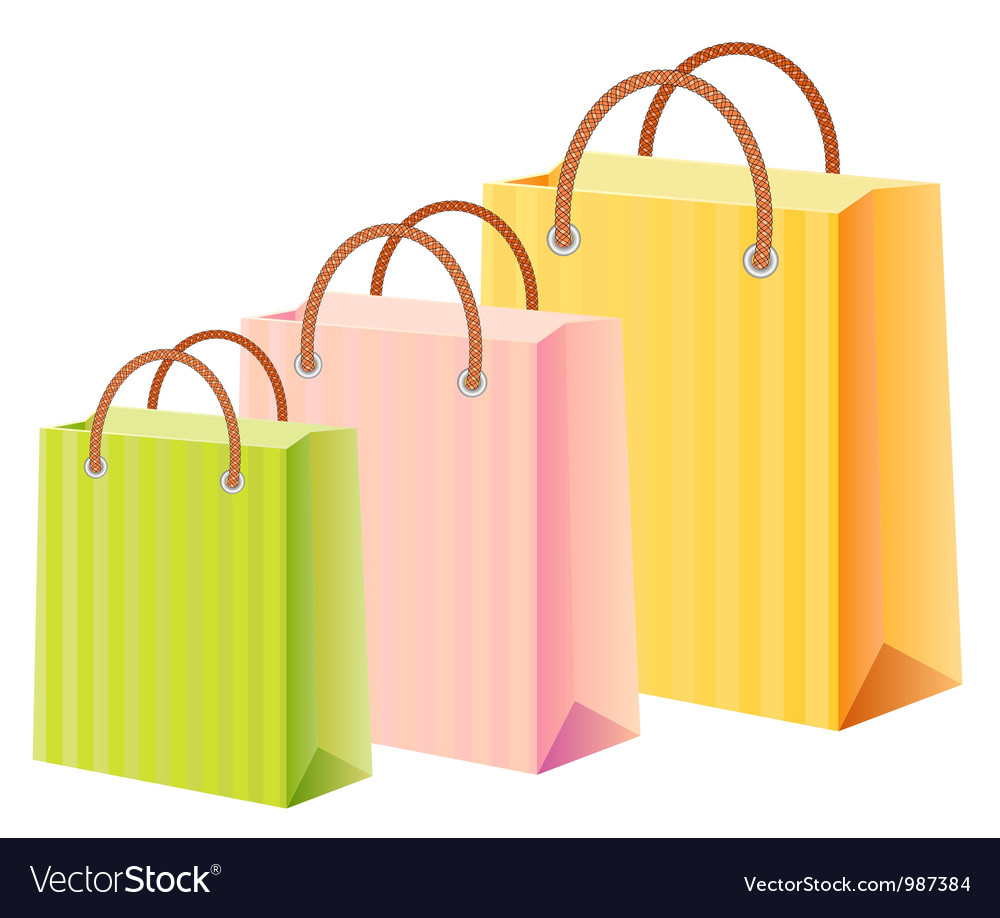 Multicolor shopping bags