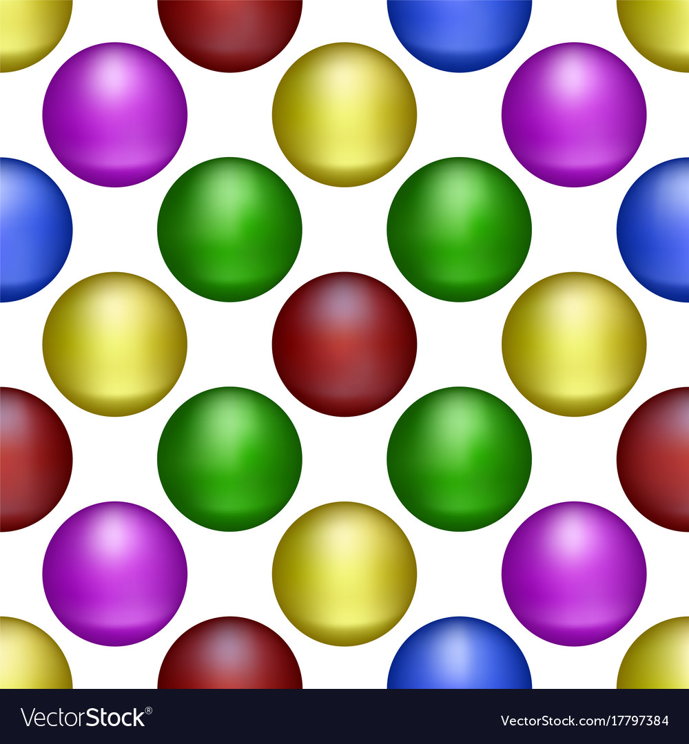 Multicolored balls form the background