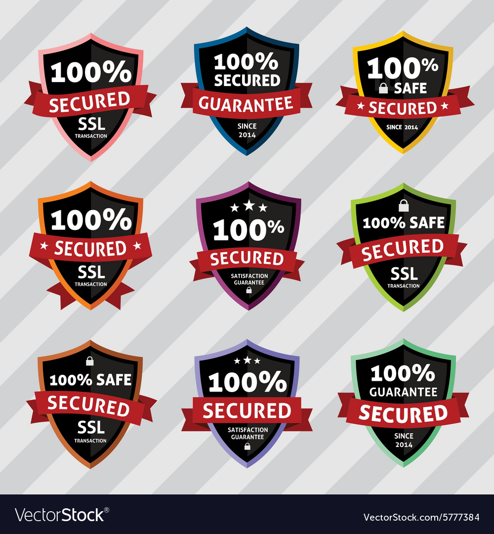 SSL Security Secure Shield Badges