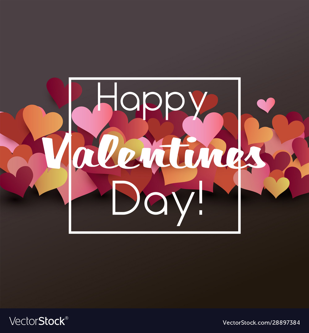 Valentine card origami style template valentines
