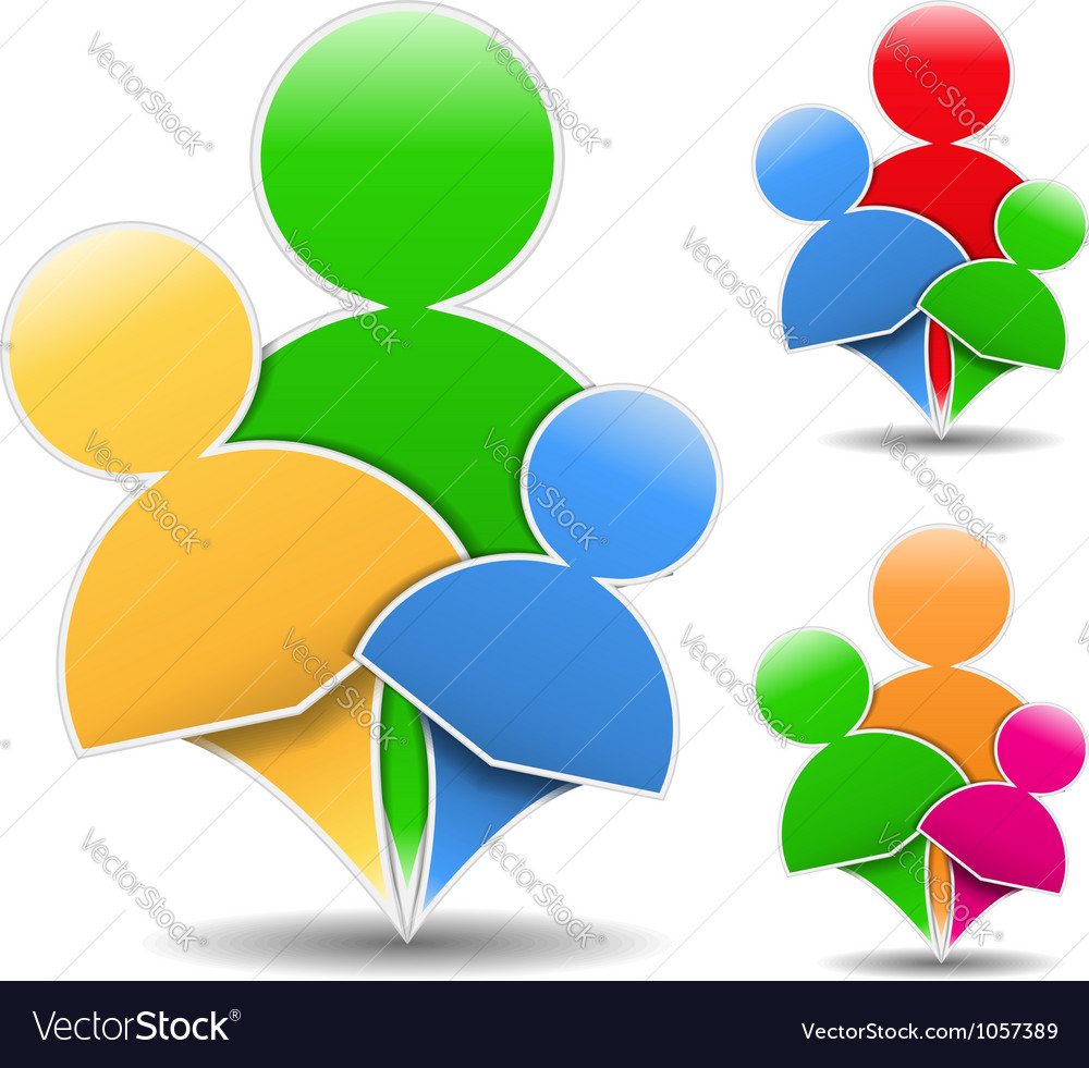 Abstract Family Icon vector image