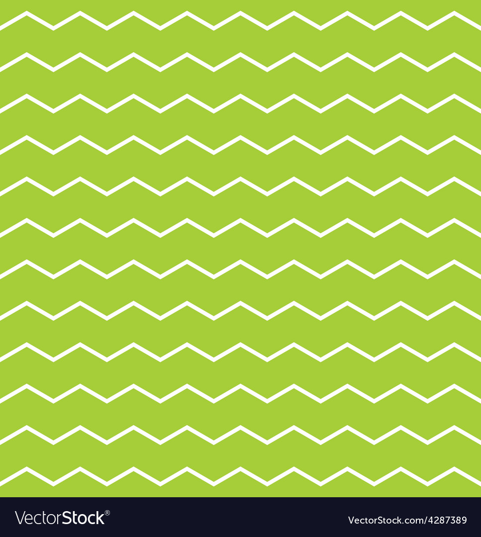 Tile spring pattern with white and green zig zag