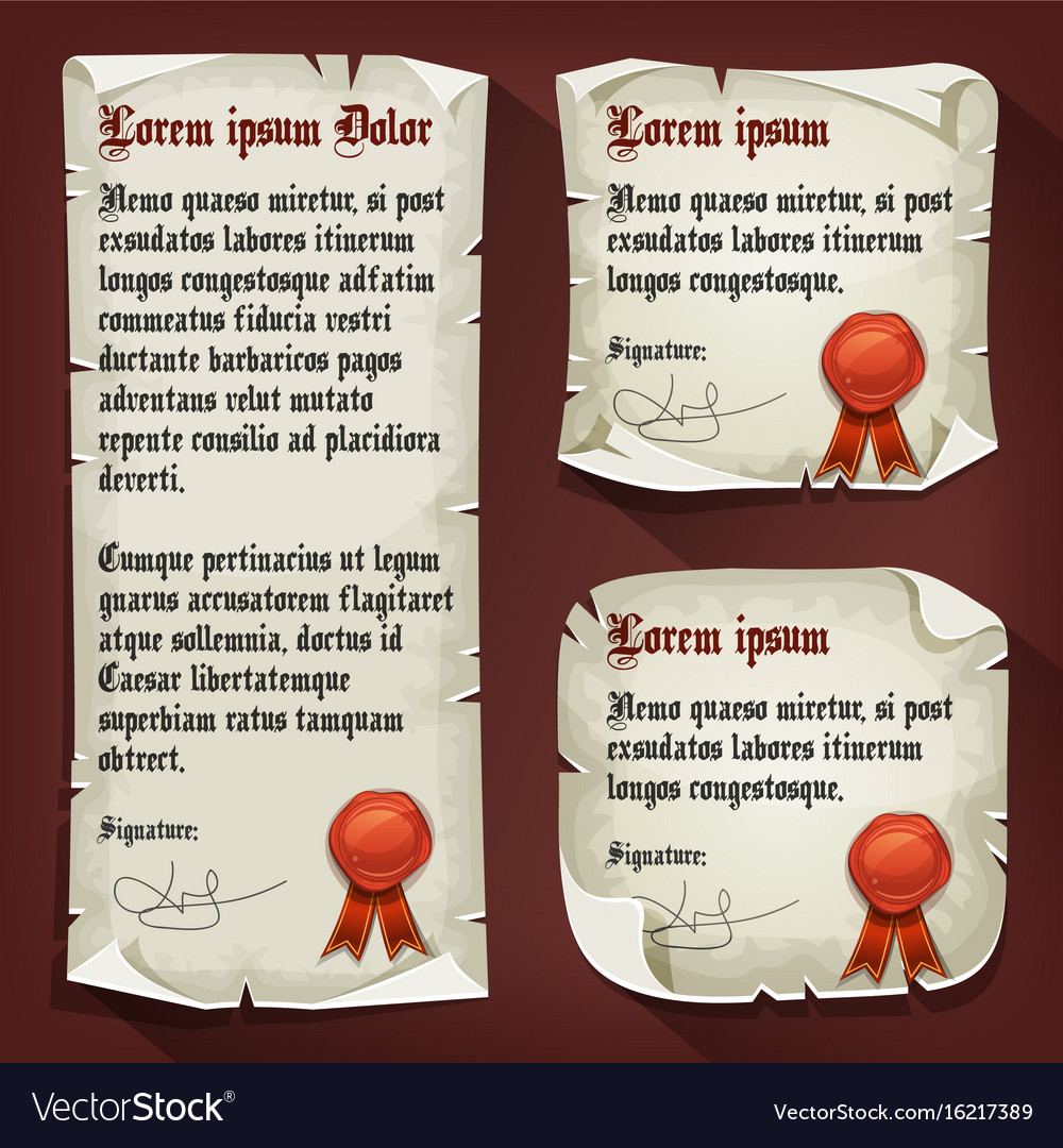 Vintage medieval letters with wax seals royalty free vector vintage medieval letters with wax seals vector image stopboris Choice Image