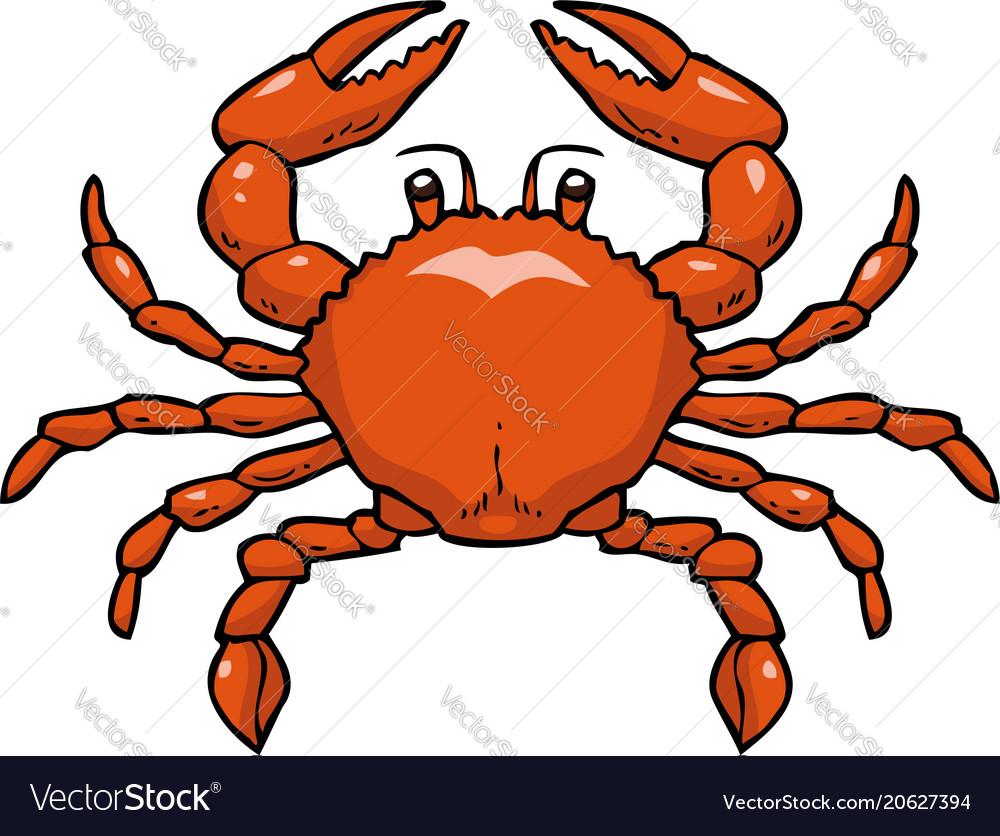 Cartoon doodle crab