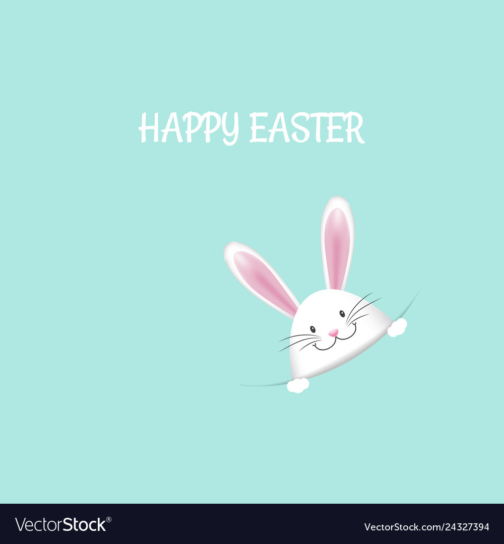 Cute easter bunny background