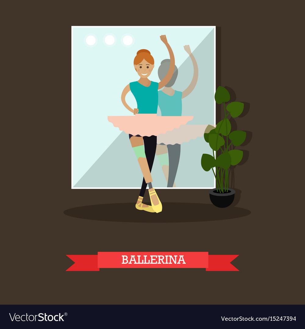 Dancing ballerina in flat
