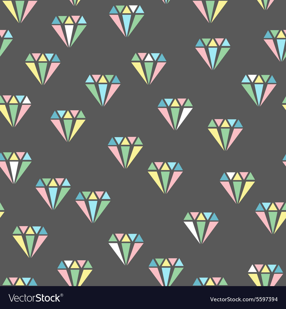Diamonds abstract seamless pattern
