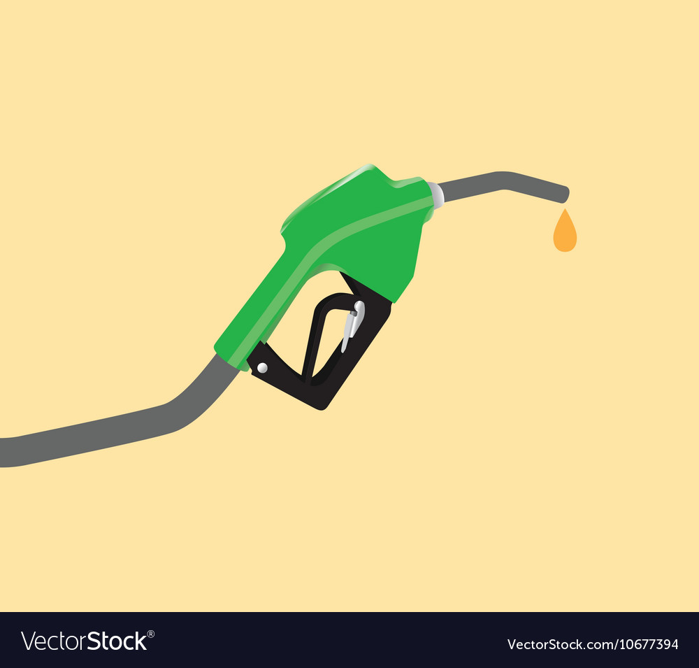 Fuel pump with drop gasoline with yellow