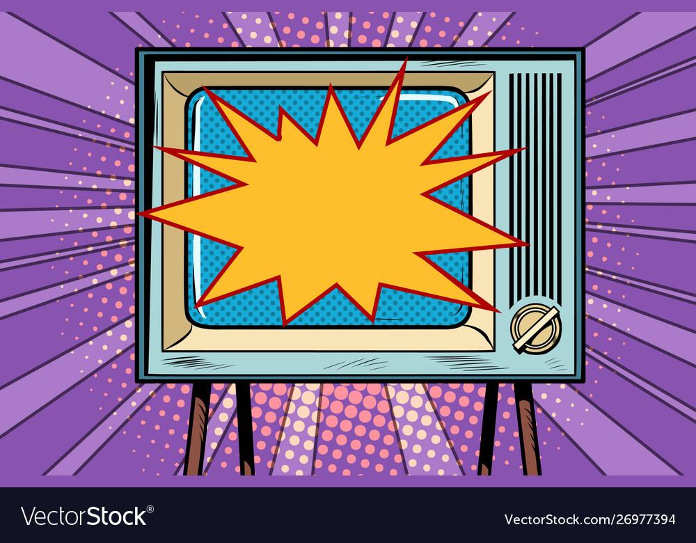 Retro tv television and news