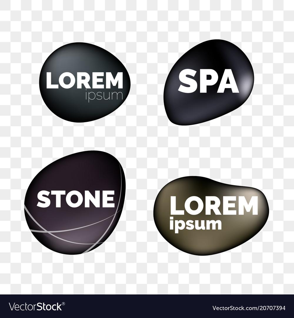 Spa stones 3d isolated realistic zen icons