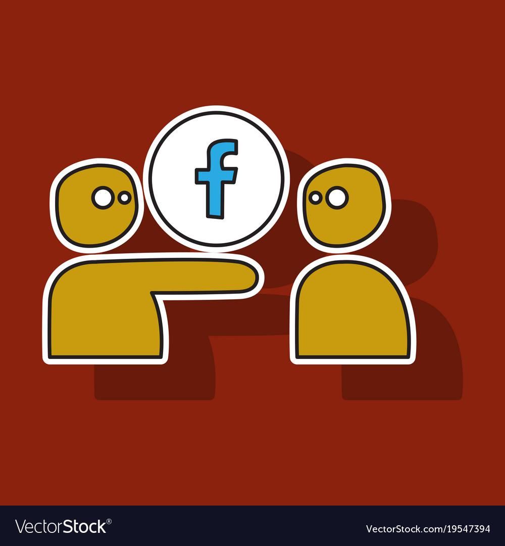 Sticker unusual look facebook logotype social