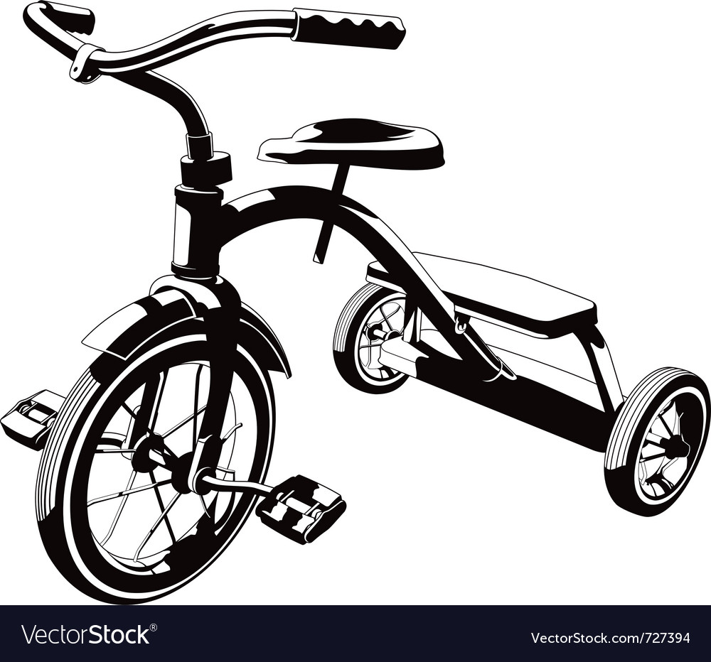 Trycycle vector image
