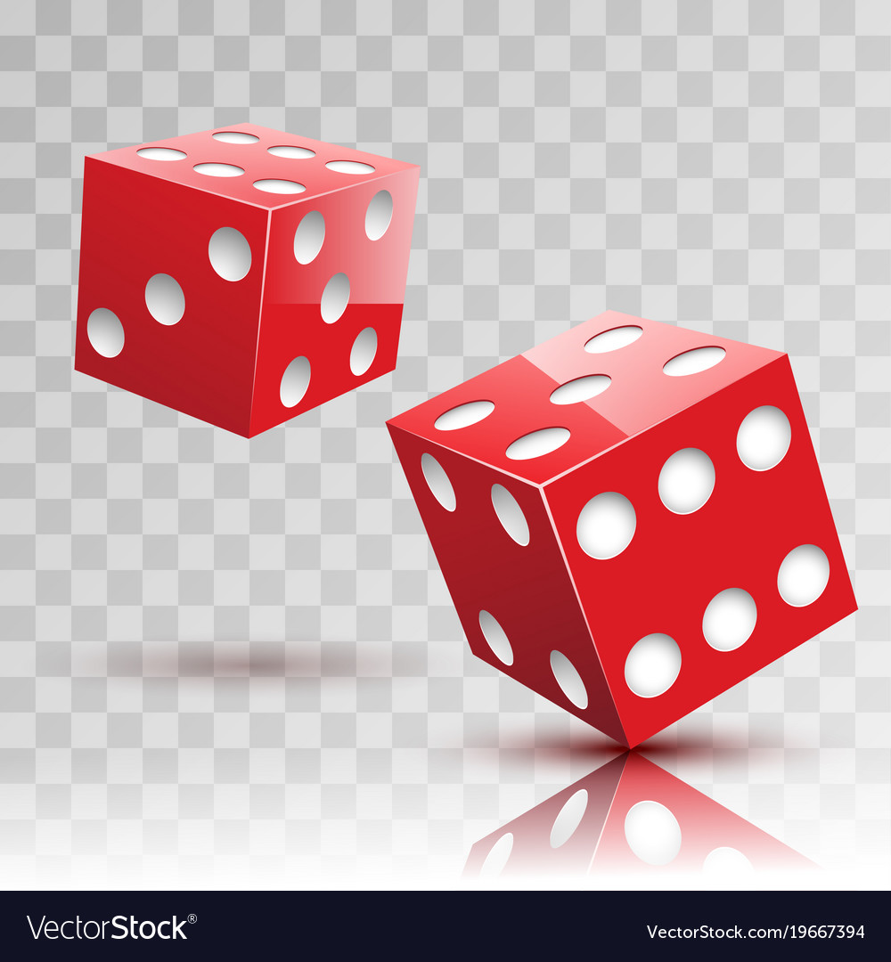 Two red dices gambling icon