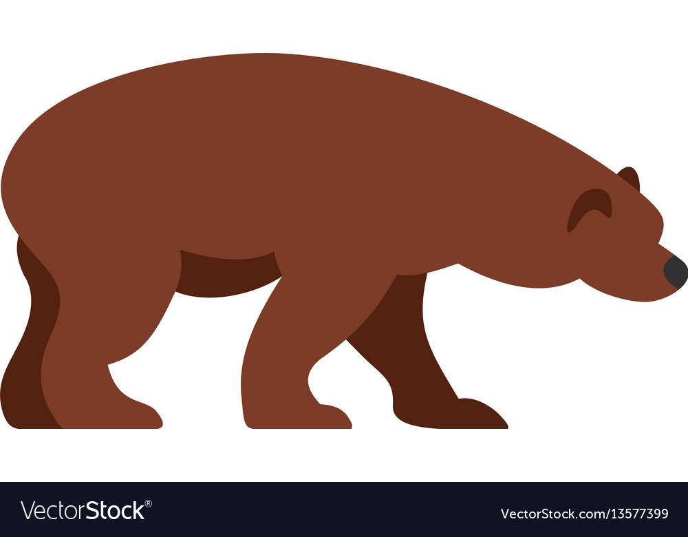 Bear icon flat style