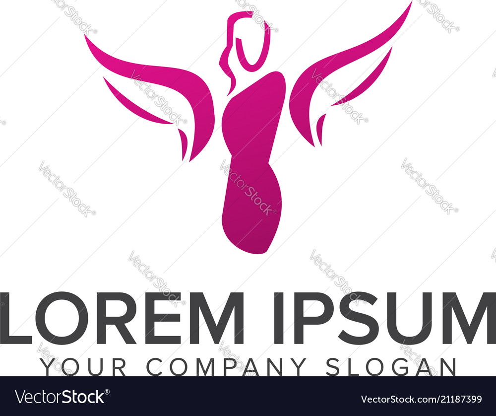 Beauty Fashion Logo Design Concept Template Vector Image