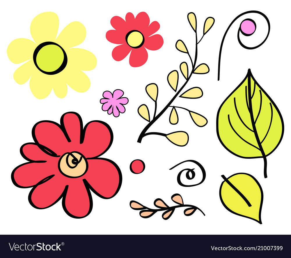 Floral element flowers leaves