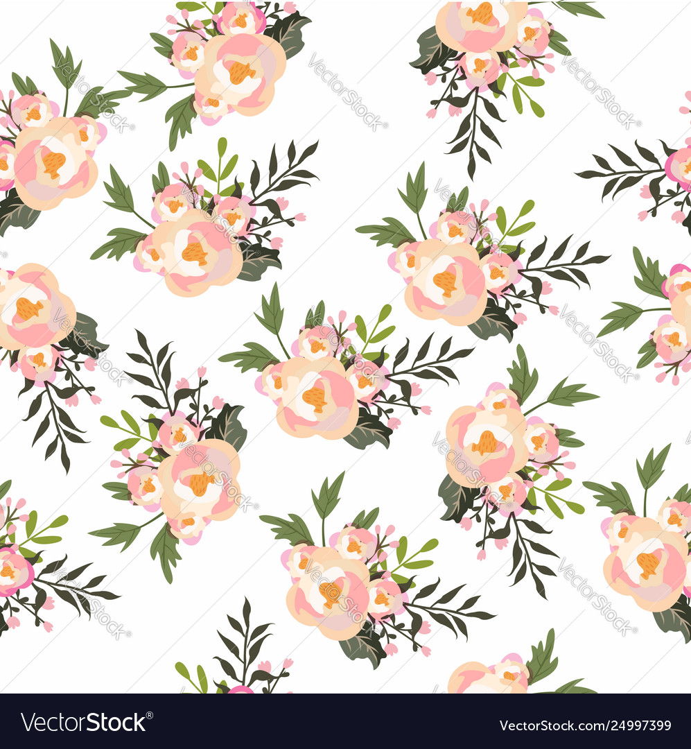 Flowers design seamless pattern