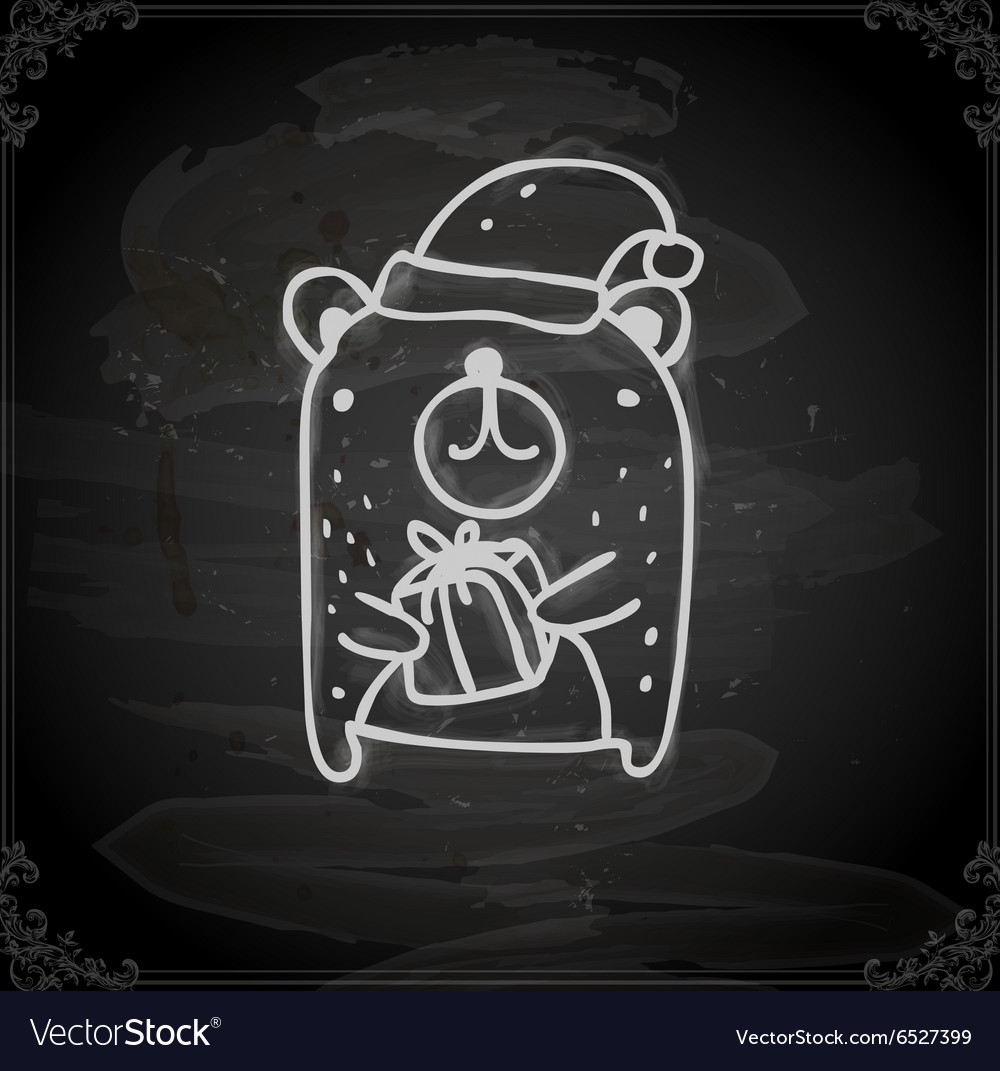 Hand Drawn Christmas Bear