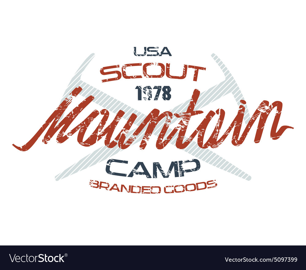 Mountain scout emblems for t shirt