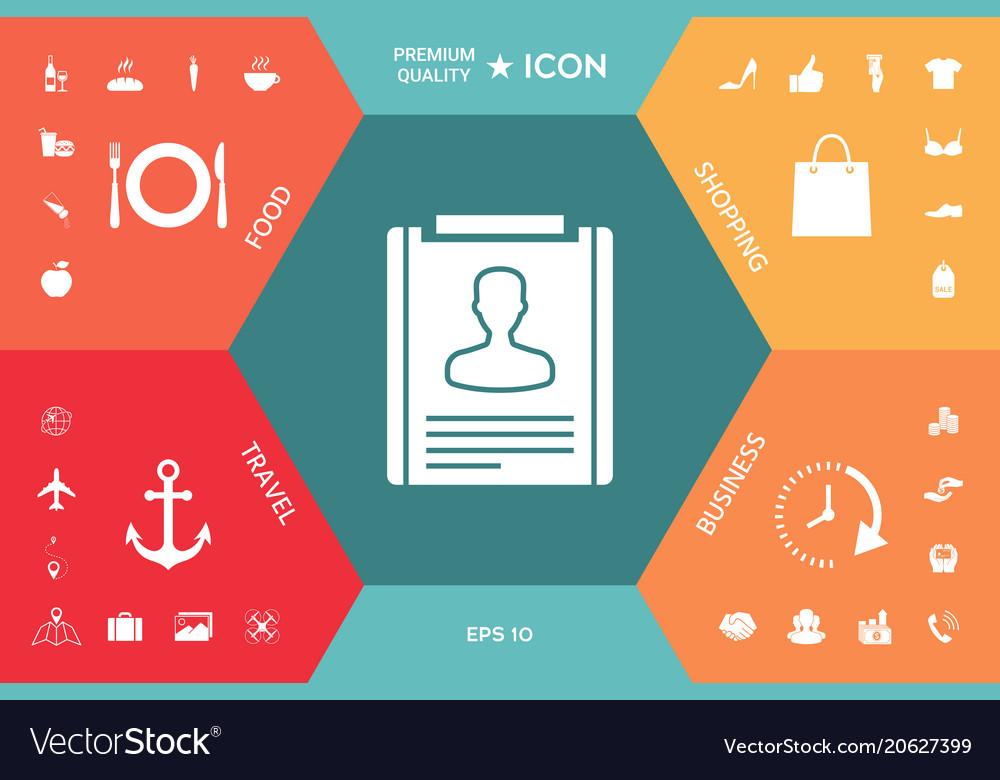resume icon symbol vector image