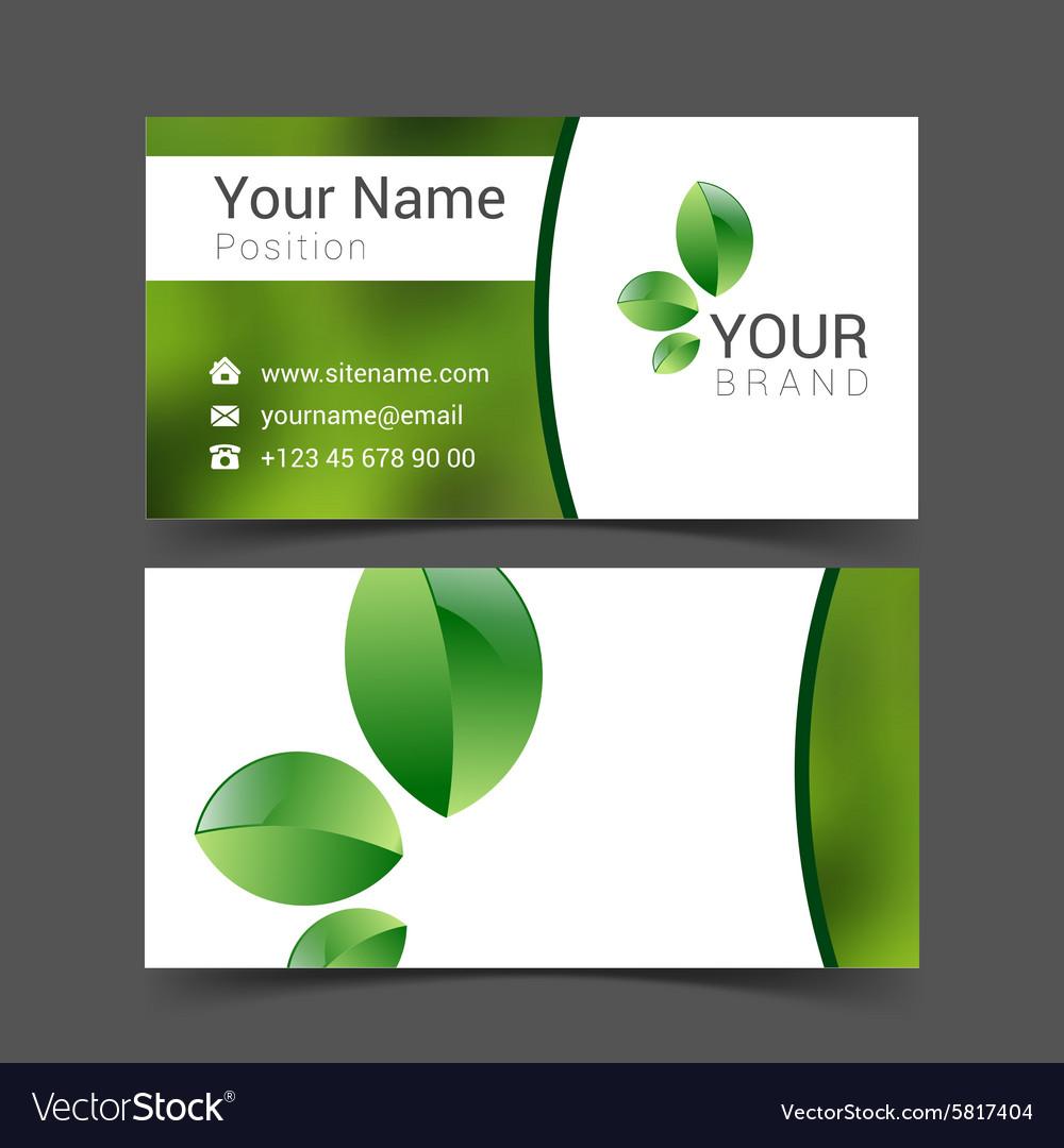 Business card creative design template Corporate vector image on VectorStock