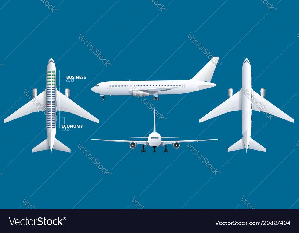 Chart airplane seat plan aircraft passenger
