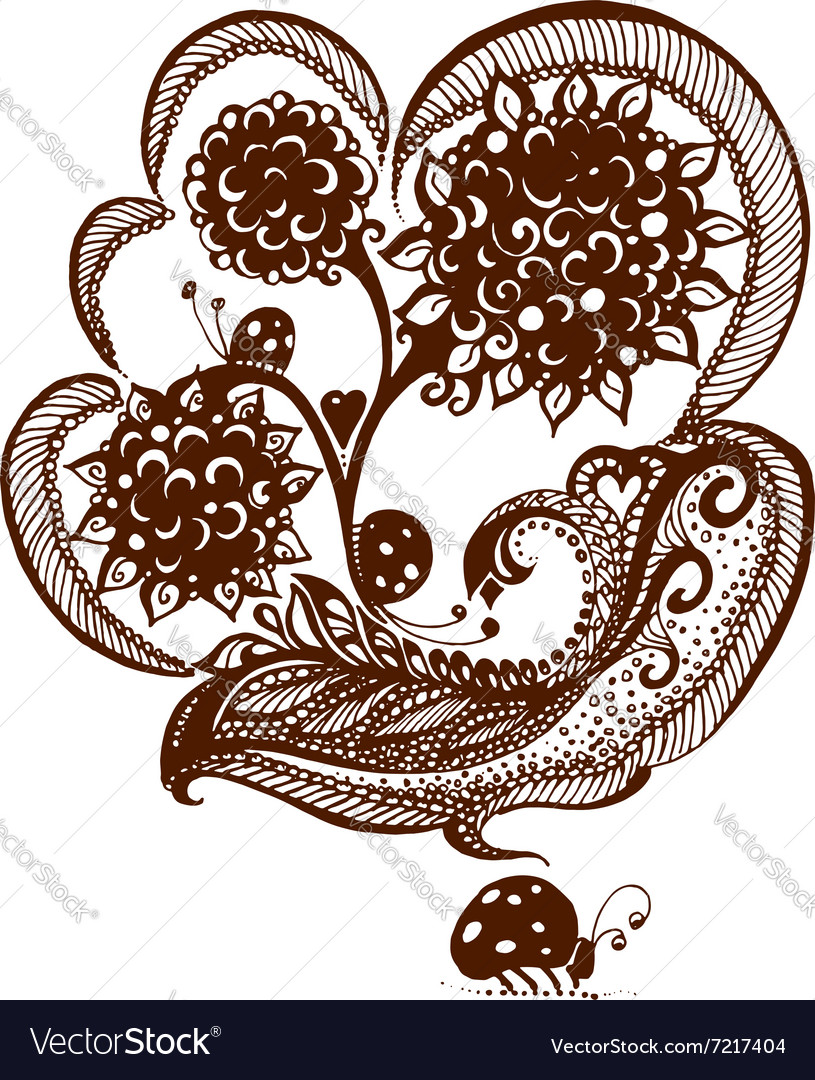 Elements Painted With Henna Royalty Free Vector Image