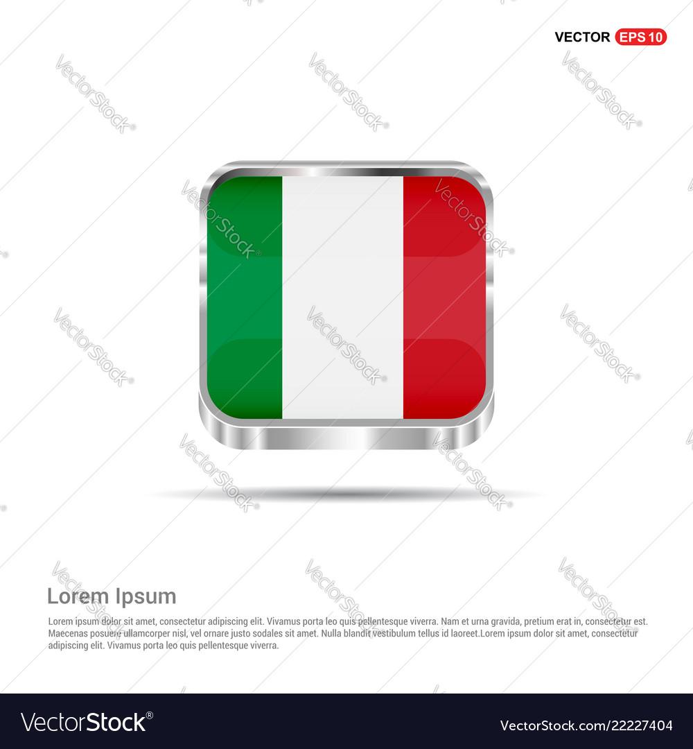 Italy flag design
