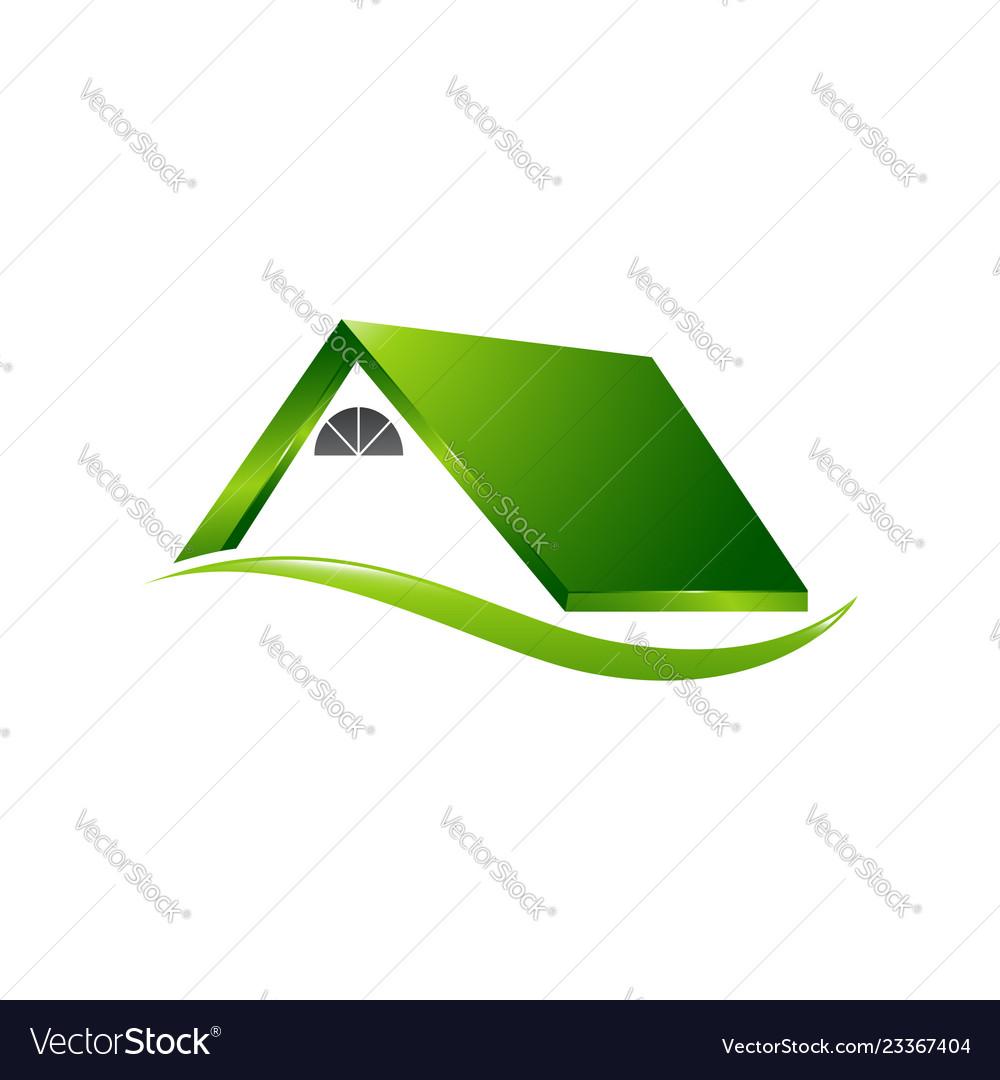 Real estate logo concept building logo in classic