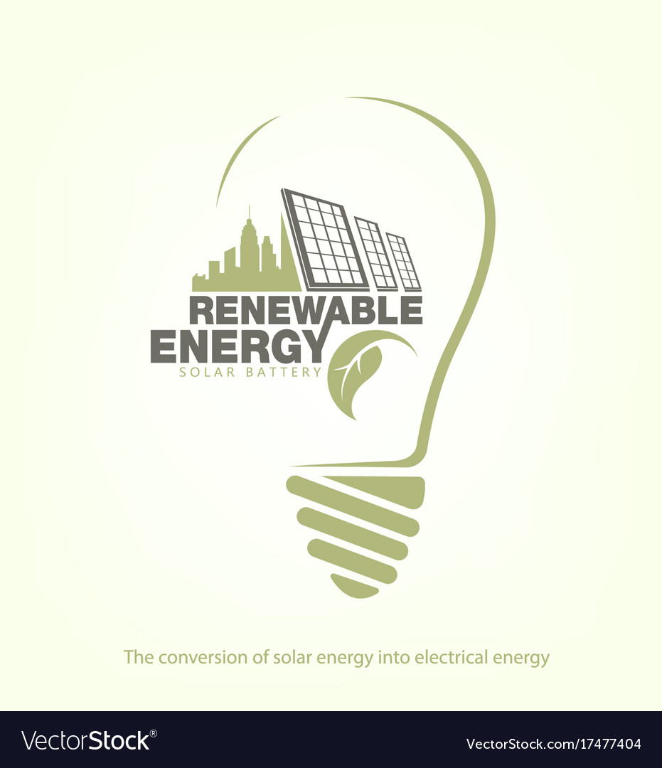 Renewable energy of solar energy in bulb concept
